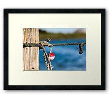 Interesting red and white fishing float bobber  Framed Print
