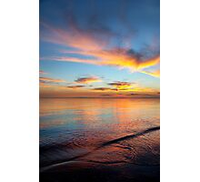 Watercolour Sunset at Chelsea Beach Photographic Print