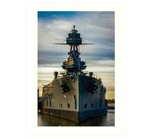 Warship at San Jacinto Monument Art Print