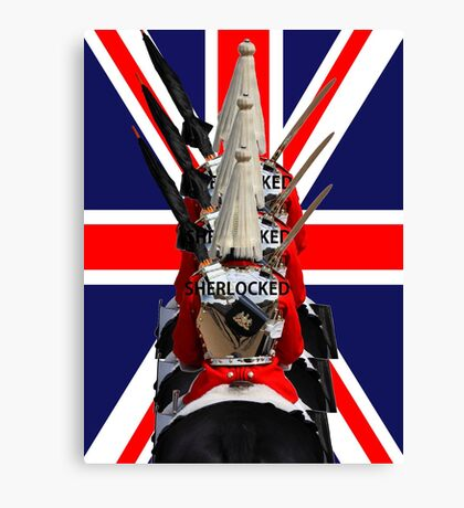 """The Queen's Guards """"Sherlocked!"""" Canvas Print"""