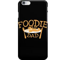 Foodie DAD with a plate iPhone Case/Skin