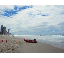 Beach Rescue Photographic Print