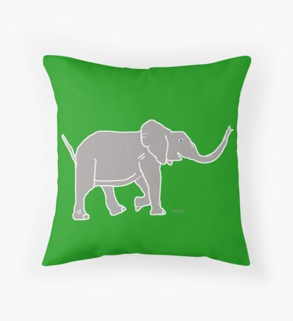 Elephant Grey 12C Throw Pillow