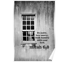 micah 6 Justly Mercy Poster