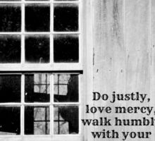 micah 6 Justly Mercy Sticker