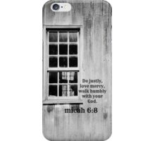 micah 6 Justly Mercy iPhone Case/Skin