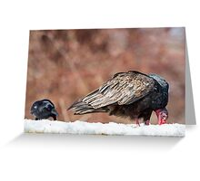 The Crow And Vulture Greeting Card