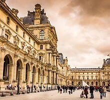 Palais Du Louvre Sunset by PatiDesigns