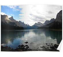 Maligne Lake Reflections Poster