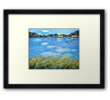 Cloud's Reflections on the Lake Framed Print