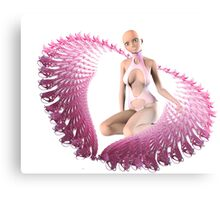 pink alien wings Canvas Print
