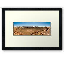 Barringer Meteor Crater Framed Print