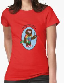 Pass The Salt - Stoner Sloth Womens Fitted T-Shirt