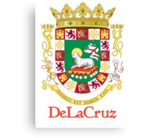 DeLaCruz Shield of Puerto Rico Canvas Print