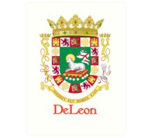 DeLeon Shield of Puerto Rico Art Print