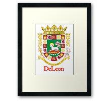DeLeon Shield of Puerto Rico Framed Print