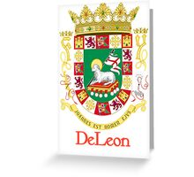 DeLeon Shield of Puerto Rico Greeting Card