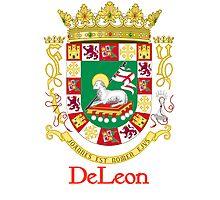 DeLeon Shield of Puerto Rico Photographic Print