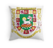 DeLeon Shield of Puerto Rico Throw Pillow