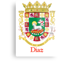 Diaz Shield of Puerto Rico Metal Print