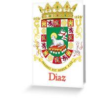 Diaz Shield of Puerto Rico Greeting Card