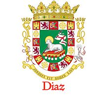 Diaz Shield of Puerto Rico Photographic Print