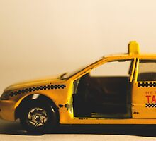 Destroyed New York Taxi by clarkeface