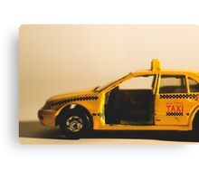 Destroyed New York Taxi Canvas Print