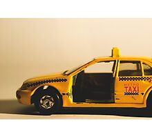 Destroyed New York Taxi Photographic Print