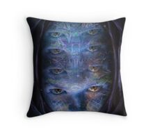 Psychedelic Muse Throw Pillow