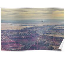 Flying over the grand canyon Poster
