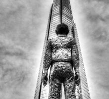 The Shard and Man Statue by DavidHornchurch