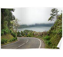 Road at Sete Cidades Poster