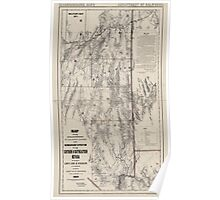 Civil War Maps 1043 Map showing detailed topography of the country traversed by the reconnaissance expedition through southern and southeastern Nevada Poster