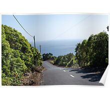 Road in Faial Poster