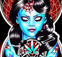 Gypsy girl candy skull case by Thirteen7s