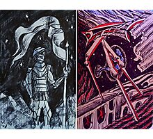 "Ink Sketches - ""The Guardian"" and ""The Future"" Photographic Print"