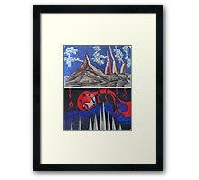 """Ink Sketches - """"Alien Landscape"""" and """"Defenseless"""" Framed Print"""