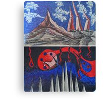 "Ink Sketches - ""Alien Landscape"" and ""Defenseless"" Canvas Print"