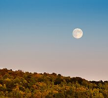 Harvest Moon Landscape by Christina Rollo
