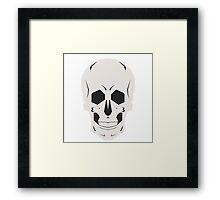 Simplistic Symmetrical Skull Design Framed Print
