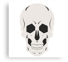 Simplistic Symmetrical Skull Design Canvas Print