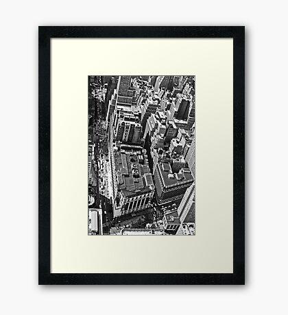 Streets of Manhattan Framed Print