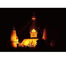 Swayambhunath at night Photographic Print