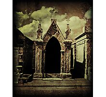 A Haunted Grave in New Orleans Saint Roch Cemetery Photographic Print