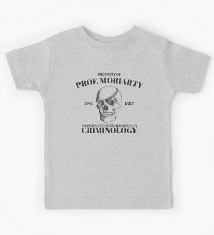 Moriarty's Department of Extraordinary Criminology Kids Tee