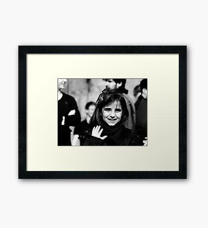 The little Smiler ... Framed Print