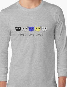 Fives Have Lives - Level 5 MeowMeowBeenz Long Sleeve T-Shirt