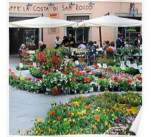Market Day-Tuscany Poster