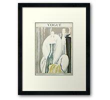 Vogue Cover 1921 Fur Coat Framed Print